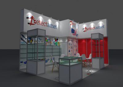 3D modular display stands